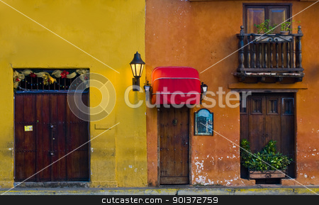Cartagena de Indias stock photo, The architecture of
