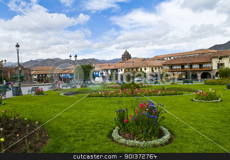 Cusco stock photo, The Plaza the Armas; , a main tourist attraction in Cusco , Peru the photo was taken on May 25 2011 by Kobby Dagan