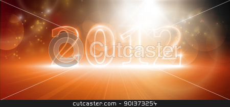 Happy new year 2012 stock vector clipart, Transparent number 2012. Various light effects giving it a glow in warm shades of red and orange. EPS10 by Ina Wendrock