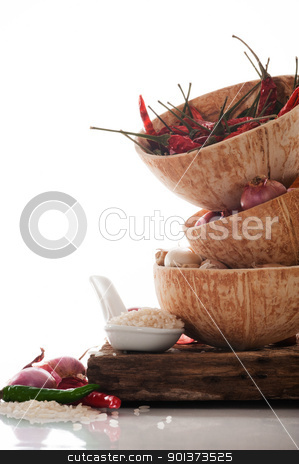 Spicy Asian cooking ingredients stock photo, Spicy Asian cooking ingredients by p.studio66
