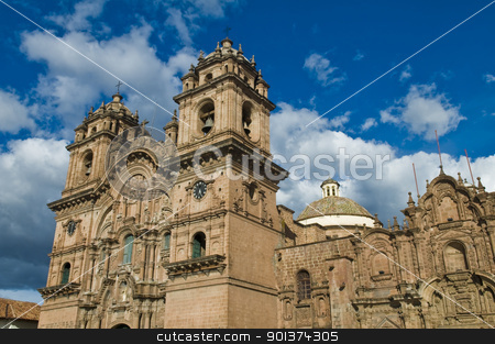 Cusco Cathedral stock photo, The cathadral in