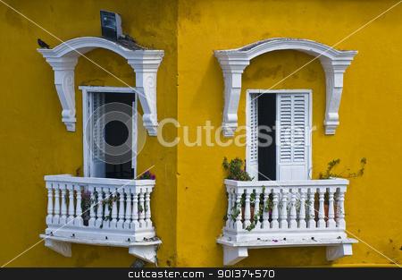 Cartagena de Indias stock photo, The architecture of