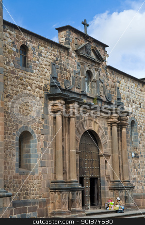 Cusco church of Santo Domingo stock photo, The