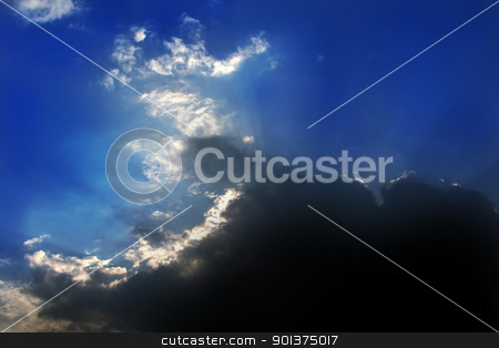 Sun behind the clouds stock photo, The sun is hidden behind the clouds by orson