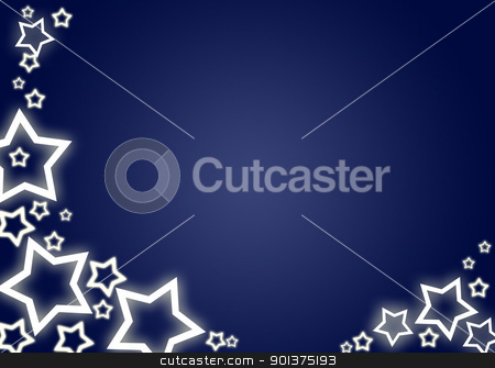 Christmas background / card stock photo, Blue christmas background / card with white stars by orson