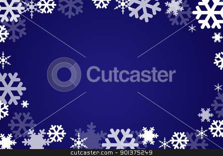 Snow flakes background stock photo, Snow flakes background  by orson