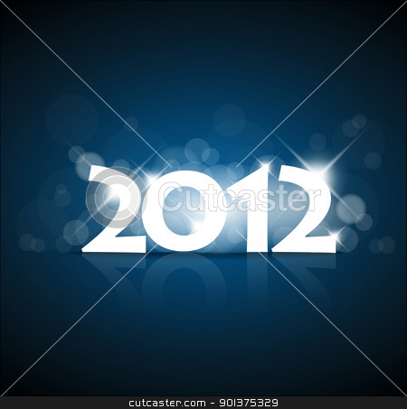 New Years card 2012 stock vector clipart, New Years card 2011 with back light and place for your text by orson