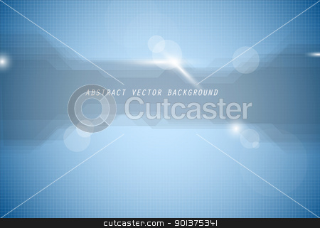 Abstract vector blue background stock vector clipart, Abstract vector blue background with lights and place for your text by orson