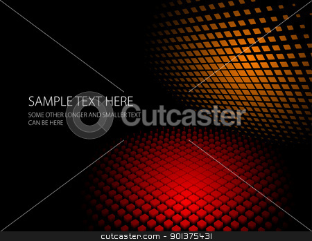 Abstract red and orange dynamic background stock vector clipart, Abstract red and orange dynamic background - vector by orson