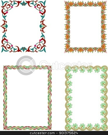 Islamic frames stock vector clipart, Islamic frames by Haider Azim