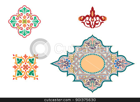 Islamic ornaments stock vector clipart, Islamic ornaments by Haider ...