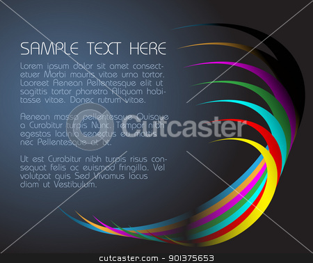 abstract dark background  stock vector clipart, abstract dark background  with colorful circles by orson