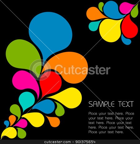 Abstract colorful background  stock vector clipart, Abstract background made from colorful spatters by orson
