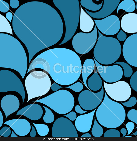 Blue abstract seamless pattern  stock vector clipart, Blue abstract seamless pattern made from various spatters by orson