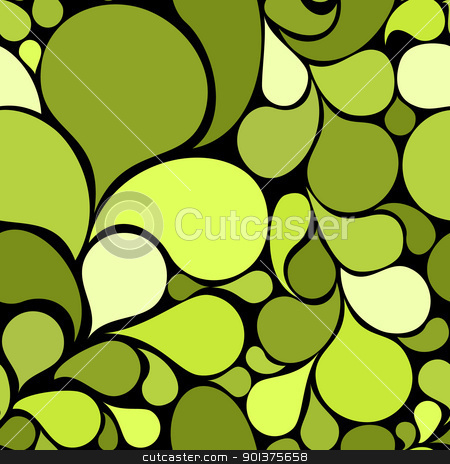 Green abstract seamless pattern  stock vector clipart, Green abstract seamless pattern made from various spatters  by orson