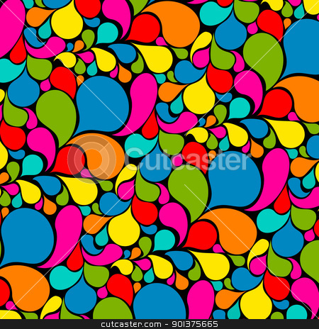 Colorful abstract seamless pattern stock vector clipart, Colorful abstract seamless pattern made from various spatters   by orson