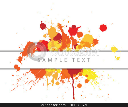 Abstract spots background  stock vector clipart, Abstract spots background with place for your text by orson