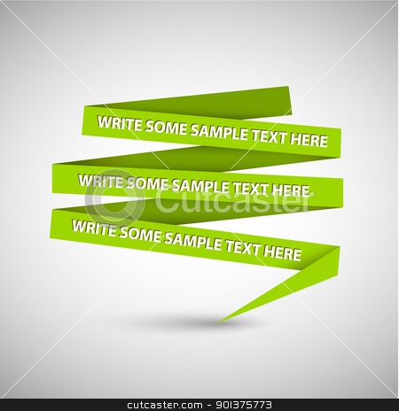 Green speech bubble made from paper stock vector clipart, Vector Green ...