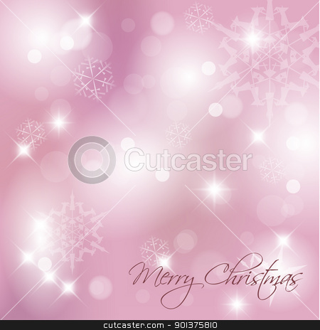 Vector Christmas background stock vector clipart, Vector Christmas background with white snowflakes and place for your text by orson