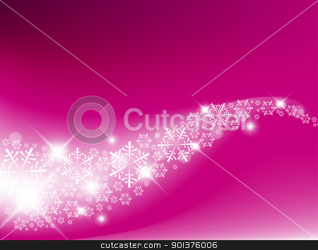 Purple  Abstract Christmas background stock vector clipart, Purple  Abstract Christmas background with white snowflakes by orson