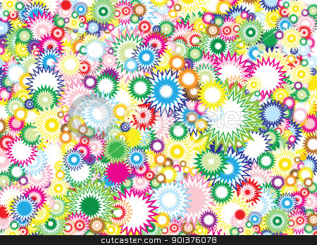 Vivid circles background  stock vector clipart, Lot of vivid circles - background / pattern / texture by orson
