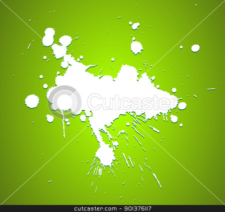 Grunge background with splats  stock vector clipart, Grunge background with splats and place for your text (vector) by orson