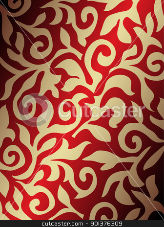 Golden and red background stock vector clipart, Golden and red abstract background by orson