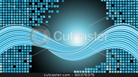 Abstract background stock vector clipart, Abstract background made from squares and waves by orson