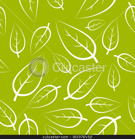 Fresh green leafs texture stock vector clipart, Fresh green leafs texture - seamless pattern by orson