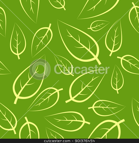 Fresh green leafs seamless pattern stock vector clipart, Fresh green leafs texture - seamless pattern  by orson