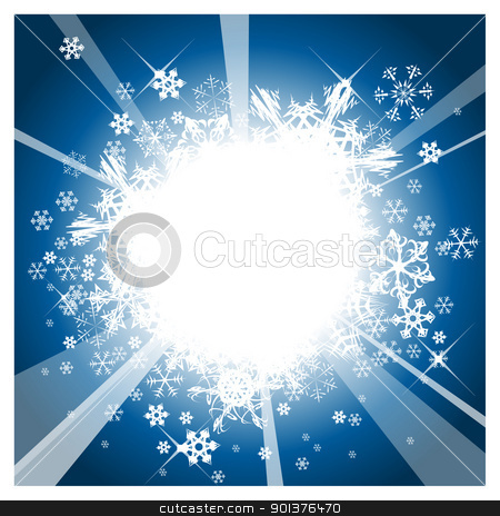 Christmas background  stock vector clipart, Christmas background with white snowflakes and place for your text by orson