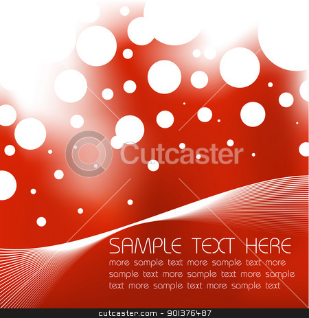 Abstract red background  stock vector clipart, Abstract red background with sample text by orson