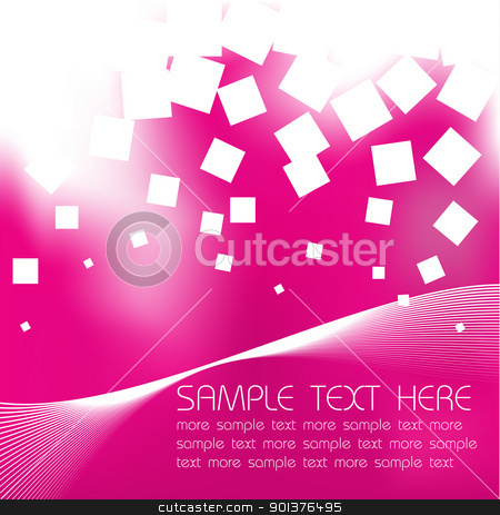 Abstract violet background stock vector clipart, Abstract violet background with sample text by orson
