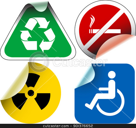 Various  labels badges stock vector clipart, Various  labels badges and stickers by orson