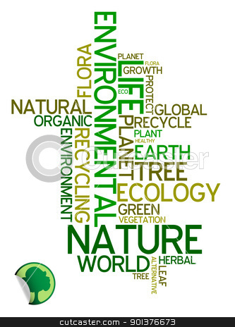 Ecology - environmental poster stock vector clipart, Ecology - environmental poster made from words by orson