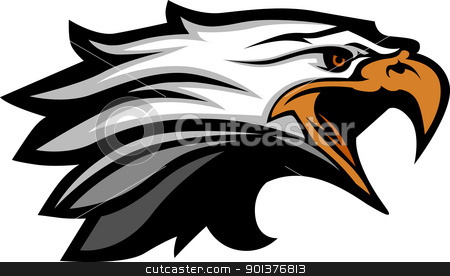 Mascot Head of an Eagle Vector Illustration stock vector clipart, Eagle Head Vector Graphic Mascot Image by chromaco