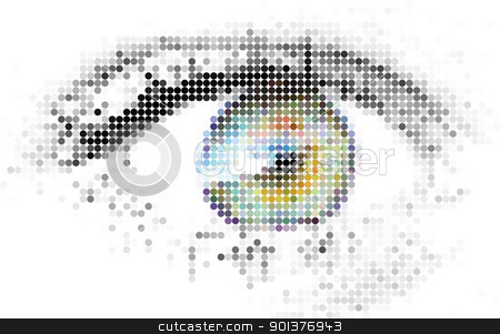 Abstract human - digital - eye  stock vector clipart, Abstract human - digital - eye made from circles by orson
