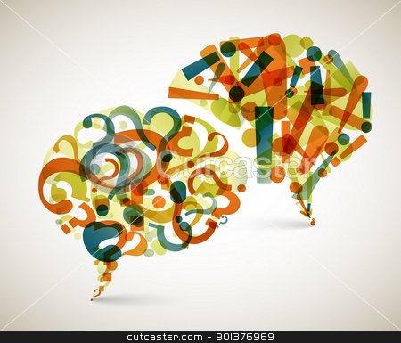 Questions and Answers - abstract illustration stock vector clipart, Questions and Answers - abstract illustration made from question and exclamation mark by orson