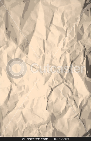 Grunge crumpled paper texture  stock vector clipart, Grunge crumpled paper texture  / pattern for background by orson