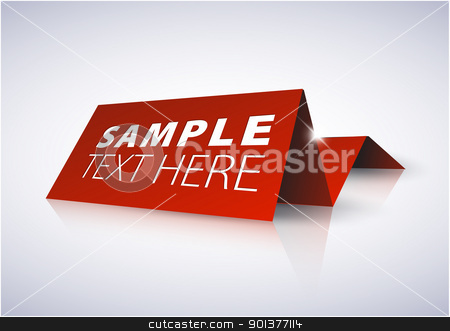 Red tag for important information stock vector clipart, Red tag for important information - nameplate by orson