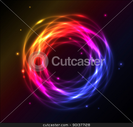 Colorful plasma background stock vector clipart, Colorful plasma vector ring background by orson