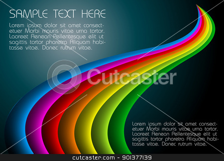 abstract dark rainbow background  stock vector clipart, abstract dark background with shaded rainbow lines by orson