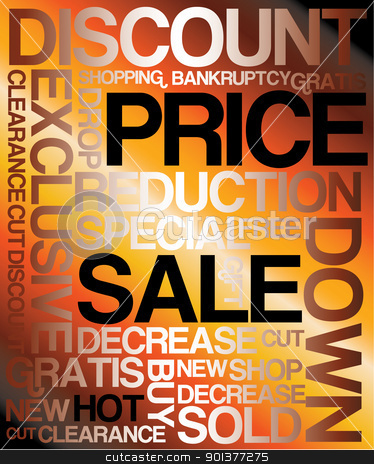 Sale discount poster stock vector clipart, Sale discount poster - with backlight on hot background  by orson