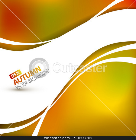 Colorful vector autumn background  stock vector clipart, Colorful vector autumn background with place for your text by orson
