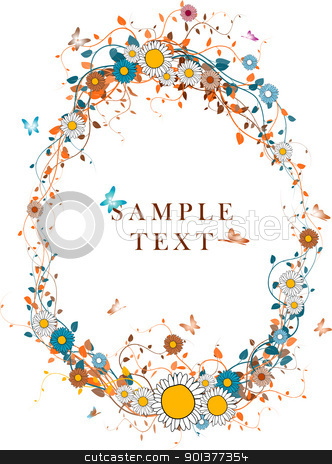 Autumn foliage background  stock vector clipart, Autumn foliage background with place for your text  by orson