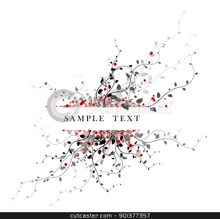 Abstract floral background with place for your text stock vector clipart, Abstract floral background with place for your text by orson