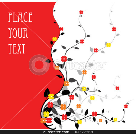 floral background stock vector clipart, floral background with place for your text by orson