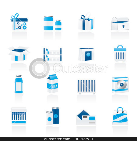 different kind of package icons stock vector clipart, different kind of package icons - vector icon set by Stoyan Haytov