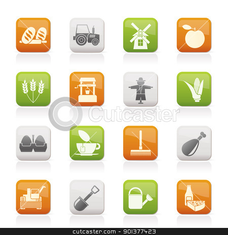 Agriculture and farming icons  stock vector clipart, Agriculture and farming icons - vector icon set by Stoyan Haytov