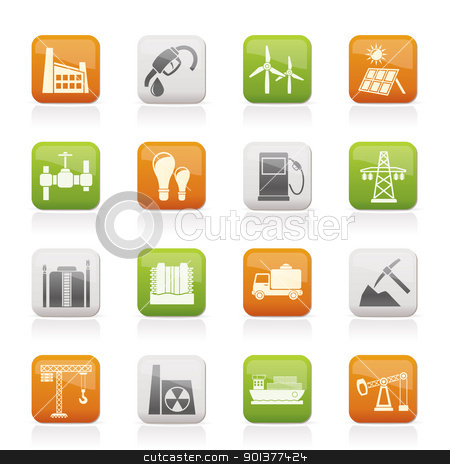 Business and industry icons  stock vector clipart, Business and industry icons - vector icon set by Stoyan Haytov